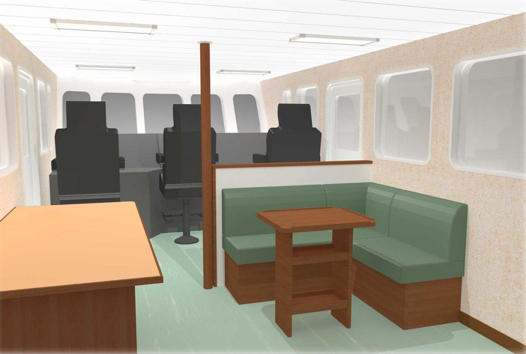 へぐら操舵室
