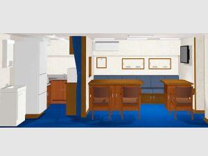 ニッパク装備 株式会社/横浜市鶴見区/船舶全般における居住区の設計・内装工事/設計部
